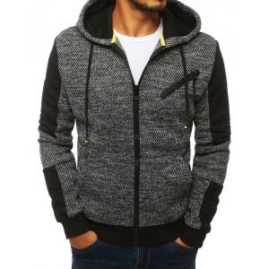 Svetlo sivá prechodná bunda so zapínaním na zips a kapucňou