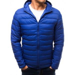 Modrá jesenná prešívaná bunda pre pánov