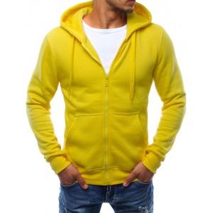 Žltá pánska mikina so zapínaním na zips