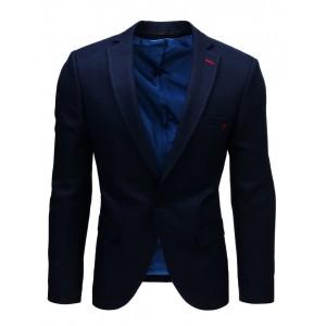 Originálne tmavo modré pánske sako s gombíkmi na rukávoch