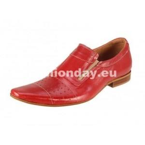 Pánske mokasíny kožené červené