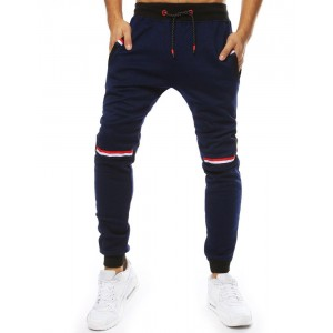 Trendy granátovo modré pánske joggerové tepláky