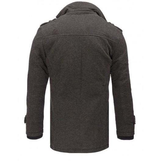 Štýlový pánsky kábát v tmavo sivej farbe