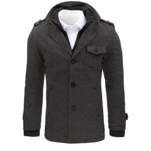 Moderný sivý kabát pre pánov na zimu