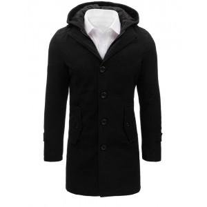 Dlhý čierny kabát pre pánov