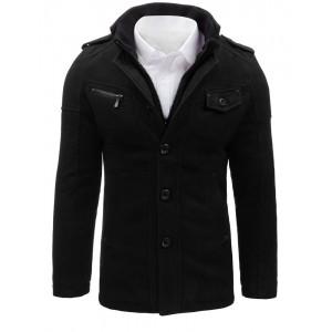 Elegantný čierny kabát pre mužov