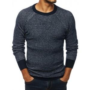 Štýlový pánsky sveter v modrej farbe