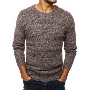 Pánsky sveter v hnedej farbe s úzkym strihom