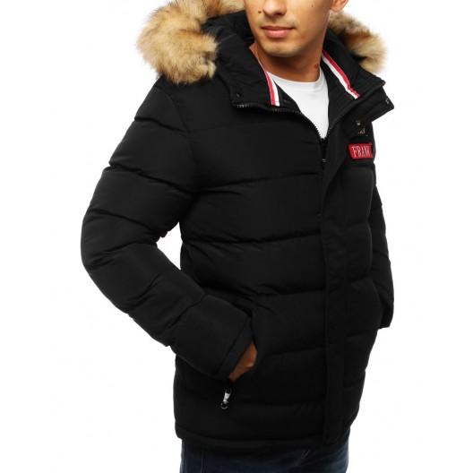 Zateplená pánska zimná bunda s hustou kožušinou