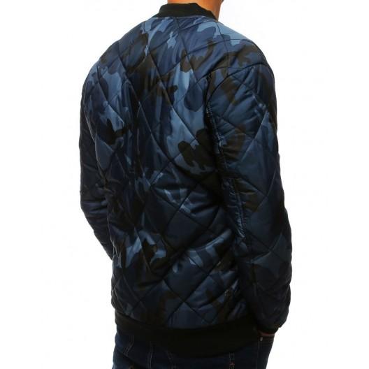 Army pánska bomber bunda v modrej farbe