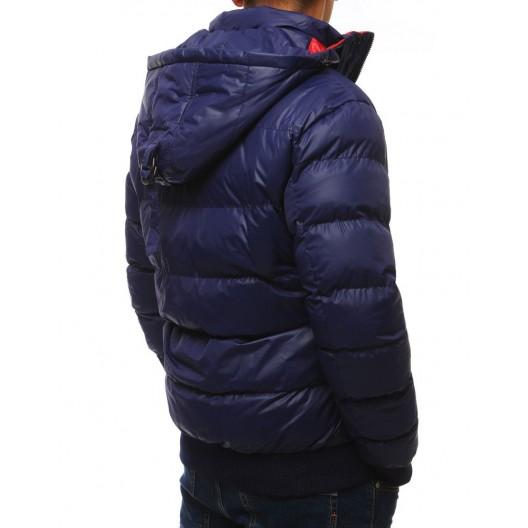 Pánska športová zimná bunda tmavo modrej farby