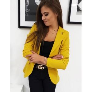 Dámske štýlové sako v žltej farbe