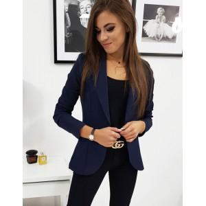 Elegantné dámske sako v modrej farbe