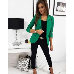 Moderné sako v zelenej farbe pre dámy