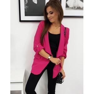Dámske sako v ružovej farbe