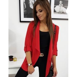 Sako v červenej farbe s krátkym rukávom