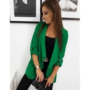 Zelené moderné sako pre dámy