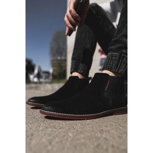 Pánske nasúvacie topánky v čiernej farbe