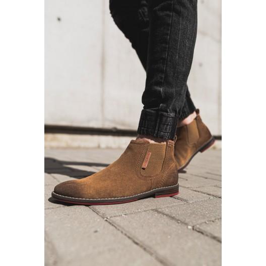 Hnedé pánske prechodné topánky