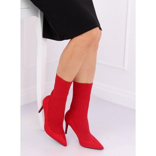 Luxusné červené topánky so zvrškom z elastickej látky