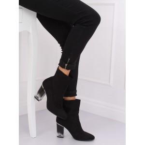 Dámske semišové topánky v klasickej čiernej farbe
