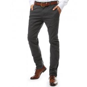 Pánske nohavice v sivej farbe