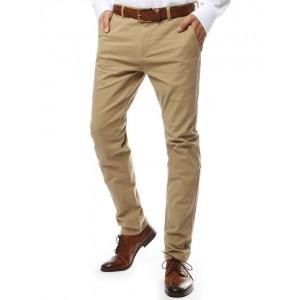 Moderné pánske chino nohavice v béžovej farbe