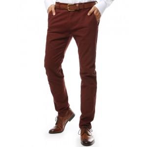 Červené úzke pánske nohavice