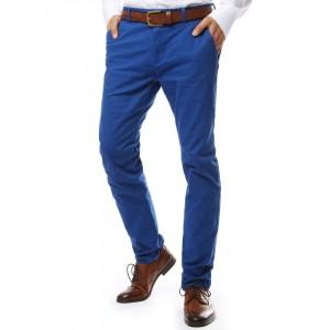 Moderné nohavice pre pánov v modrej farbe