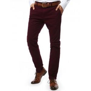 Pánske nohavice na každú príležitosť v bordovej farbe