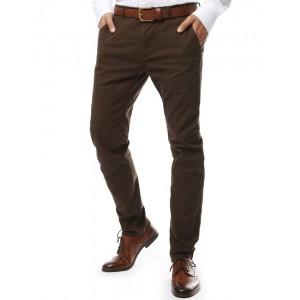 Chino moderné pánske nohavice hnedé