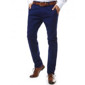Spoločenské pánske nohavice v modrej farbe