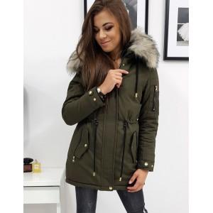 Štýlová dámska army zimná bunda parka s módnym prepracovaním