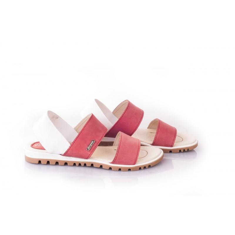 0fb5222789b6 Dámske sandále červenej farby vyrobené z vysokokvalitnej kože ...