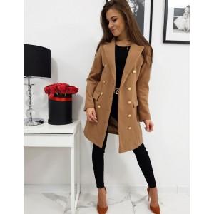Dámsky kabát na jeseň v béžovej farbe