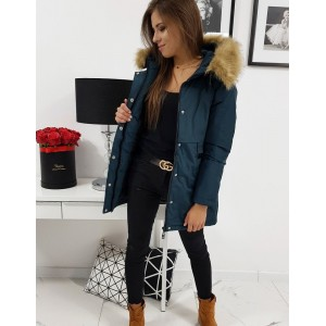 Moderná dámska zimná bunda s kapucňou