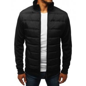 Prechodná pánska moderná bunda v čiernej farbe