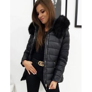 Štýlová dámska bunda na zimu s odnímateľnou kapucňou