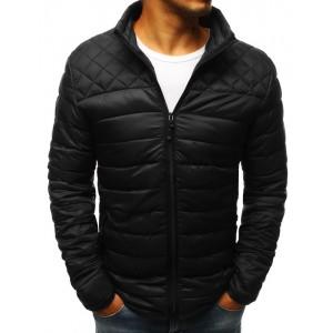 Trendová pánska prechodná bunda čiernej farby