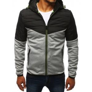 Svetlo sivá pánska prechodná bunda s dvoma vreckami
