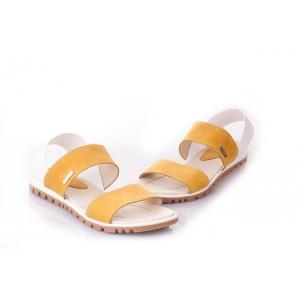 Oranžové dámske sandále vyrobené z najkvalitnejších materiálov
