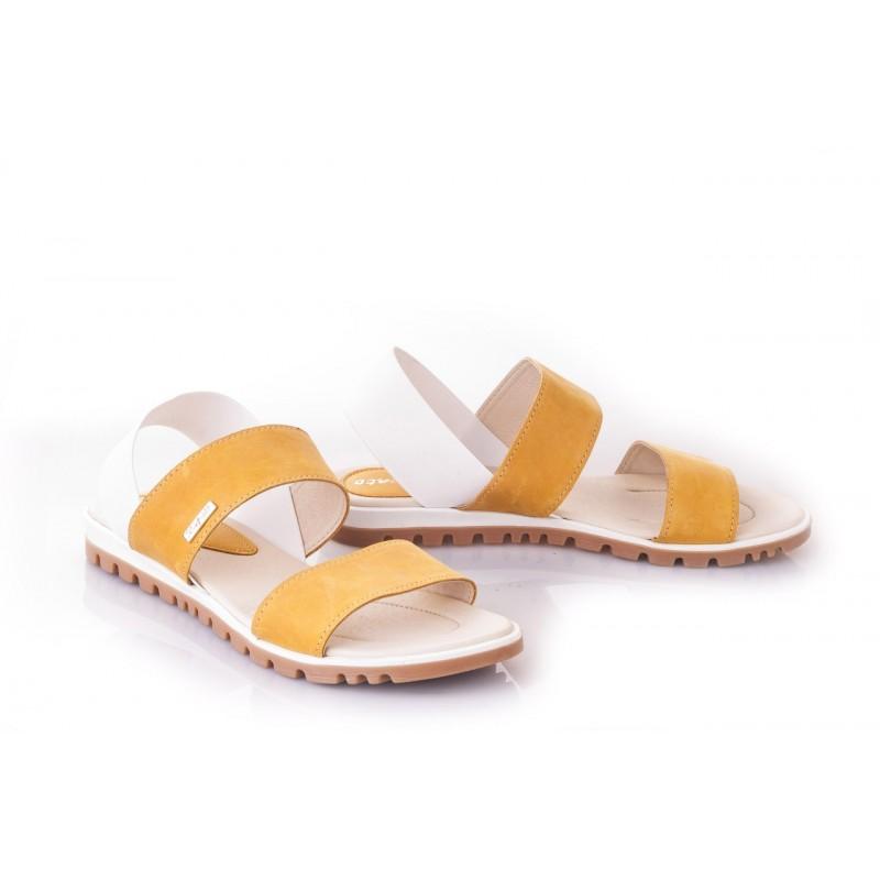 bc8260baf967 ... Oranžové dámske sandále vyrobené z najkvalitnejších materiálov ...