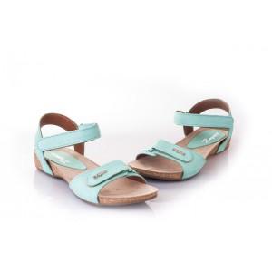 Svetlo modré dámske sandále pre komfortné nosenie