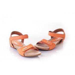 Elegantné dámske sandále v oranžovej farbe, ktoré sadne každej žene
