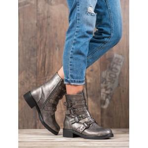 Pohodlné dámske členkové topánky na nízkom podpätku