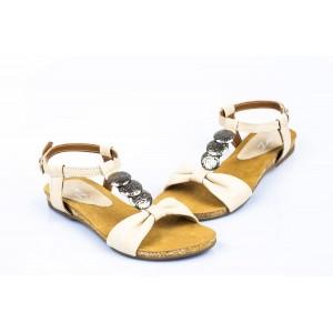 Dámske sandále bielej farby so zapínaním na ramienka