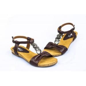 Hnedé dámske sandále vhodné na leto