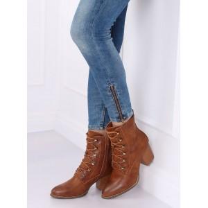 Elegantná členková obuv so šńurkami a praktickým zipsom