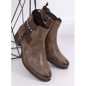 Dámske zateplené jesenné topánky s jemnou aplikáciou