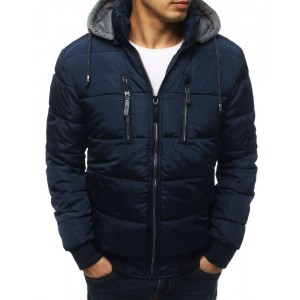 Pánska prešívaná zimná bunda s kapucňou